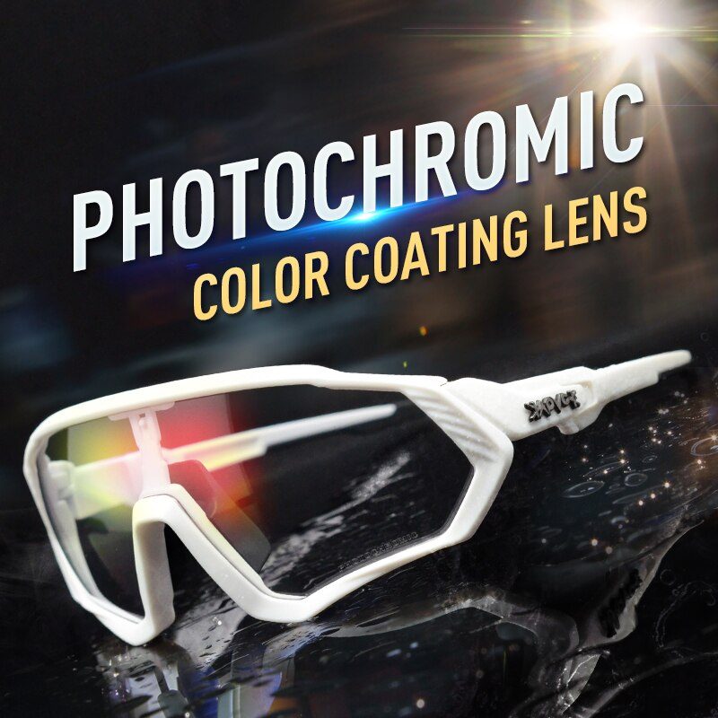 Cycling Sunglasses Photochromic Outdoor Sports Bicycle Eyewear MTB Road Bike Cycling Glasses UV400 Discoloration Bicycle Glasses