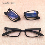 Anti Blue Ray Folding Reading Glasses Men Women Foldable Glasses Diopter Optical Computer Glasses 5296