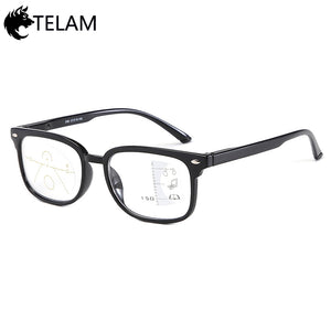 New Multi-focus Progressive Reading Glasses Men Diopter Presbyopic Eyeglasses +1.0+1.5+2.0+2.5+3.0+3.5
