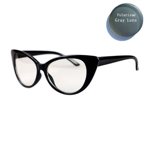 Women Myopia Polarized Reading Glasses Big Cat Eye Frame Spectacles -1.0 -1.5 -2.0 -3.0 -5 L3 P77042