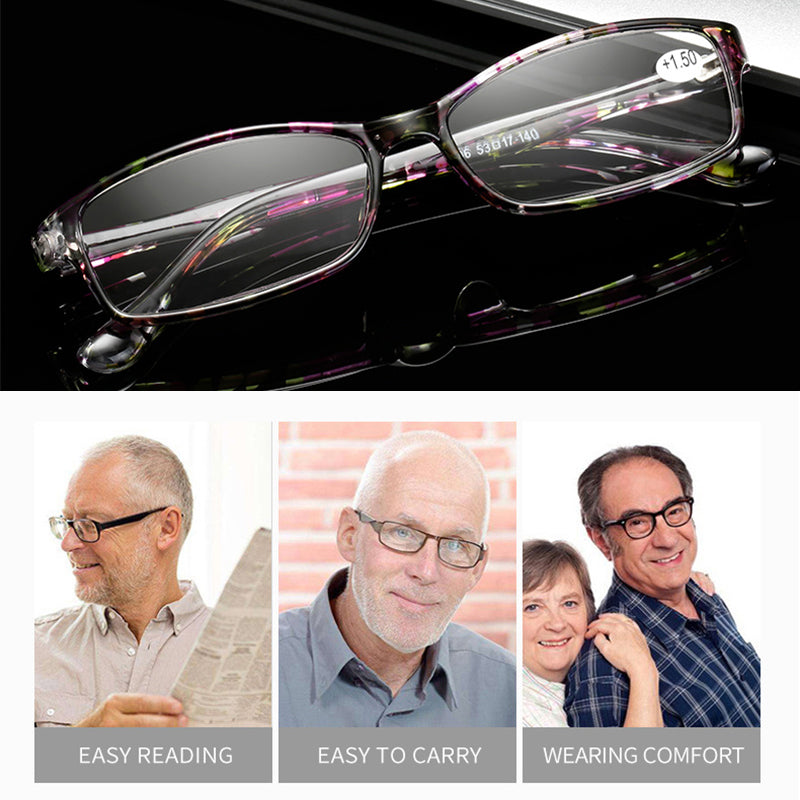 TOEXPLORE Women Reading Glasses Men Portable Presbyopic Eyewear EF66 Floral Vintage Retro Optical +1.0 To +4.0