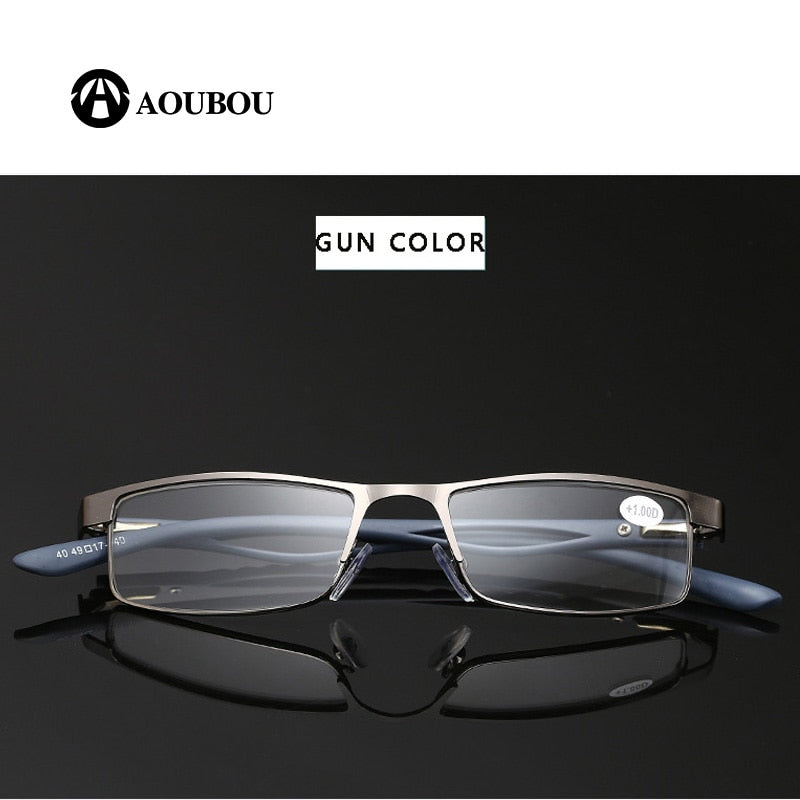 AOUBOU Brand Unisex Anti-Reflective Large Frame Reading Glasses Presbyopia PD63-64
