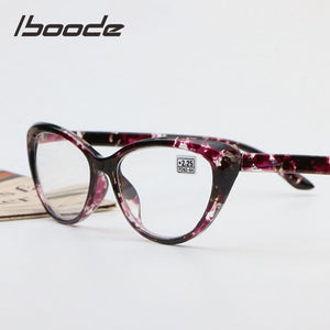 Iboode Women's Reading Glasses Retro Floral Cat Eye Ultralight Presbyopic +1.25 1.5 1.75 2.0 2.25 2.5 2.75 3.0 3.5 4.0