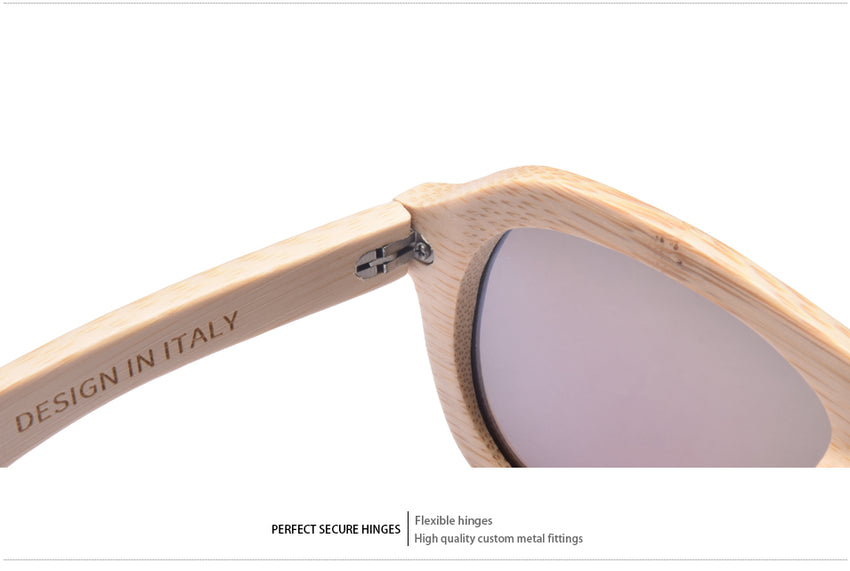 AOFLY Women's Sunglasses Wood Polarized Handmade Bamboo Frame Twin-Beams AF610