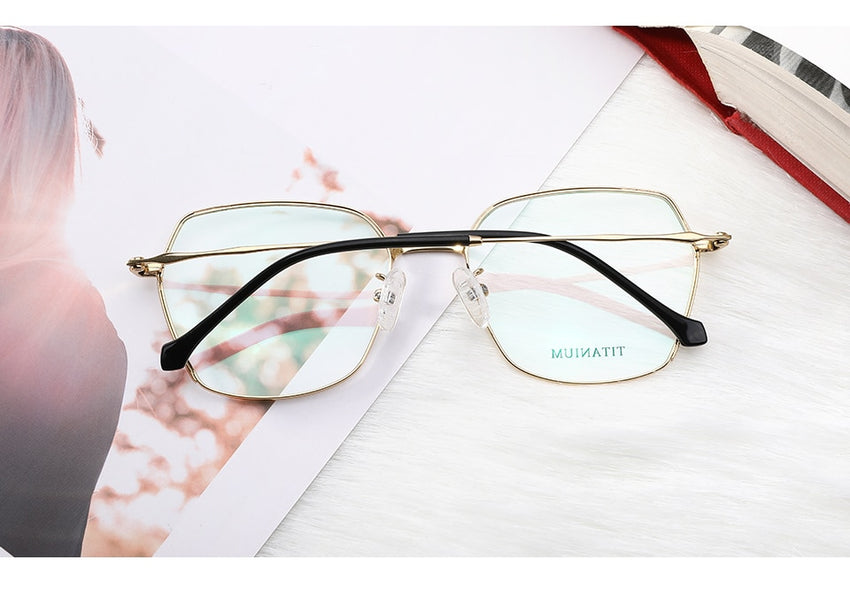 Kansept Women's Eyeglasses Titanium Alloy Optical Glasses Frame Prescription Myopia 190015C1