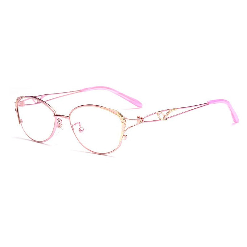BCLEAR Women's Reading Eyelasses Presbyopic Anti-Blue Ray Lenses From +0.25 To +4.00