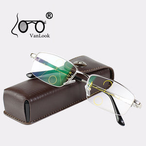 VANLOOK Brand Unisex  Reading Glasses Multifocal Progressive Computer Eyeglasses +1.0 To +4.0