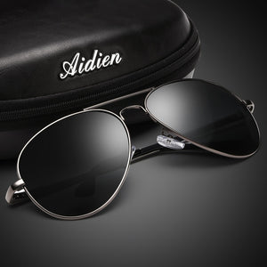 AIDIEN Brand Men's Sunglasses Diopter Polarized Oversize Prescription Aviation Myopia SPH CYL