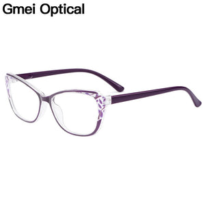 Gmei Optical Stylish Ultralight TR90 Oval Women Optical Glasses Frame For Myopia M1814