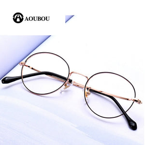 AOUBOU Brand Women's Reading Glasses Alloy Frame Anti Blue Ray Anti-Reflective AB981
