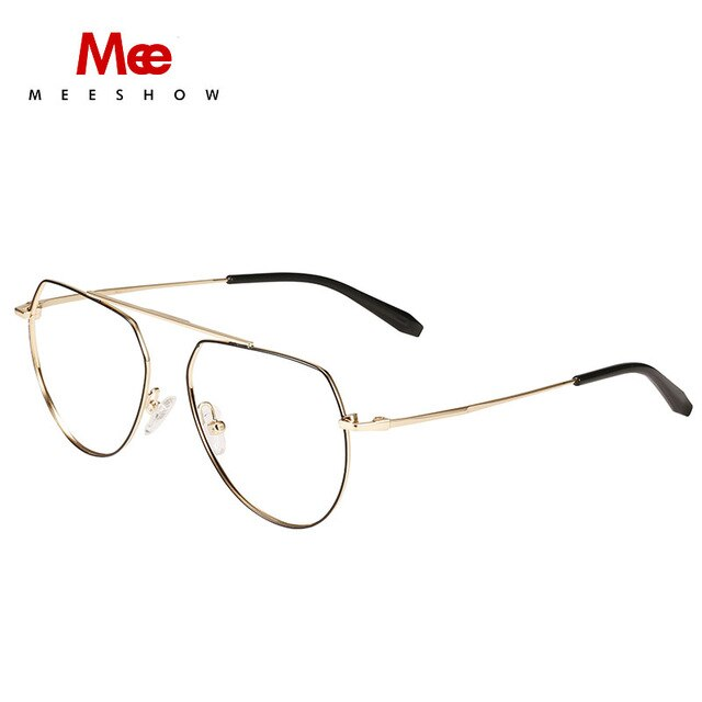 Women's Eyeglasses Titanium Alloy Frame Ultralight Round Prescription 1813