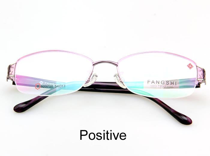 Fang Shi Brand Women's Eyeglasses Frame Alloy Half Rimless Optical 92373