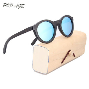 POP AGE Women's Sunglasses Round Polarized Mirror Anti-Reflective GB004