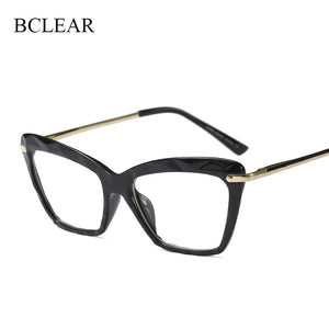 BCLEAR Women Brand Designer Cat Eye Eyeglasses Optical Spectacles Transparent 97533