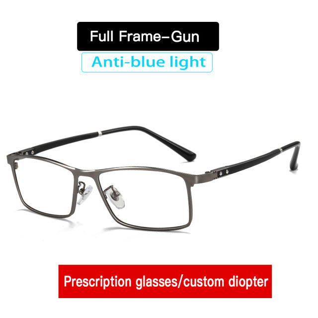 Unisex Prescription Glasses Custom Diopter Anti Blue Light Glasses Myopia AR5055