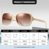 AOFLY Design Women's Sunglasses Polarized Luxury Brand Vintage Square AF8250