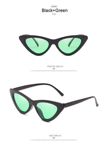 AKLFHNC Brand Women's Sunglasses Sexy Cat Eye Triangle Lens Shades