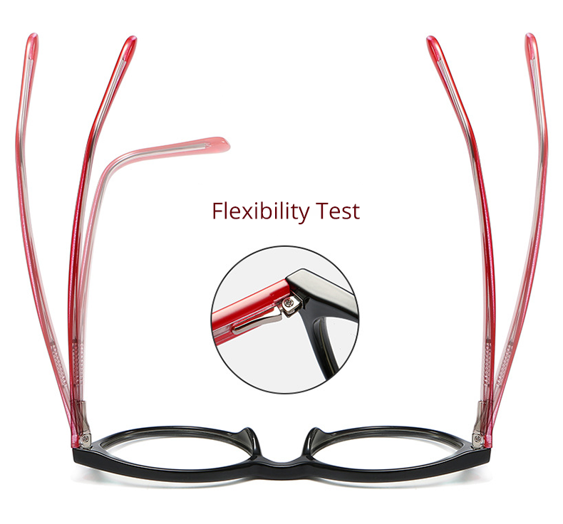 Ralferty Women's Eyeglasses Retro Arrow TR90 Adjustable Spring Temple F93348