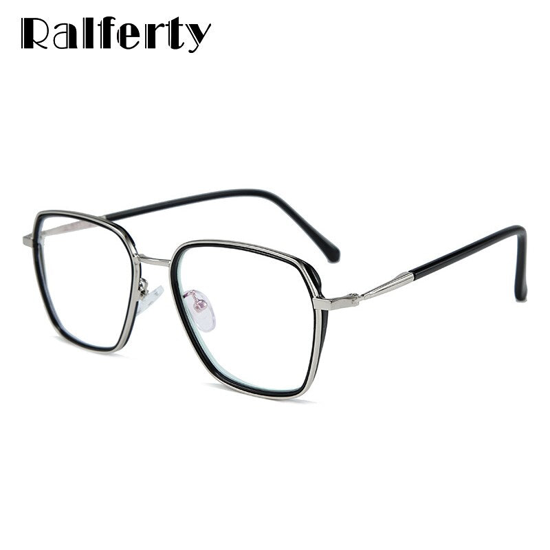 Ralferty Quality Women's Optical Glasses Frame Big Square No Diopter D16024