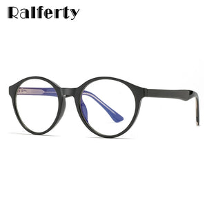 Ralferty Women's Eyeglasses Computer Round Anti Blue Light Eye D2007