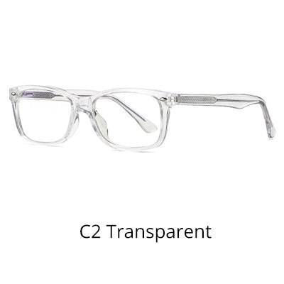 Ralferty Men's Eyeglasses Computer Glasses Anti Blue Light Frame Rectangle D2008