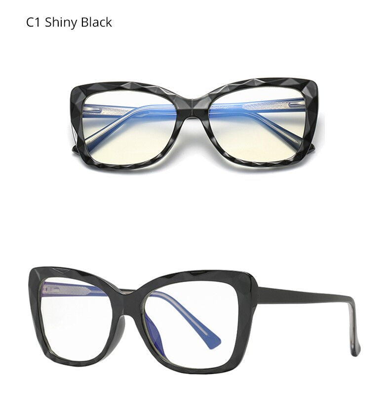 Ralferty Women's Eyeglasses Blue Light Glasses Computer Frame No Diopter D2009