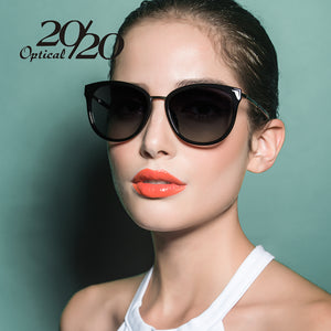 20/20 Polarized Sunglasses women Retro Style Metal Frame Sun Glasses 7051