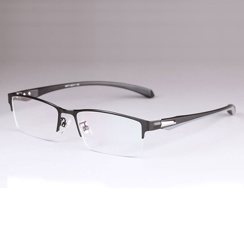 Men Titanium Alloy Eyeglasses Frame For Men Eyewear Flexible Temples Legs Ip Electroplating Alloy Material Full Rim And Half Rim