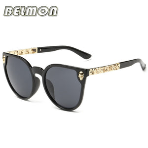 Belmon Brand Sunglasses Women Luxury Skull Anti-Reflective Rs102