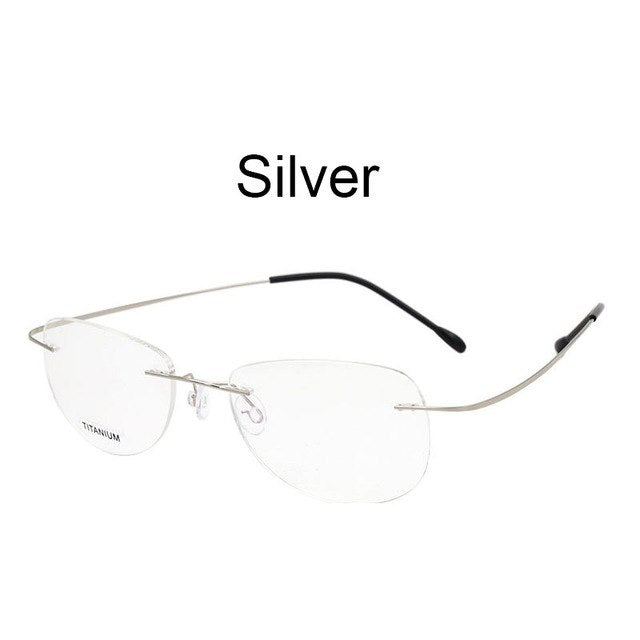 Fashion Rimless Eyeglasses Frame Optical Glasses Titanium Memory Alloy High Quality Prescription Eyewear For Men And Women