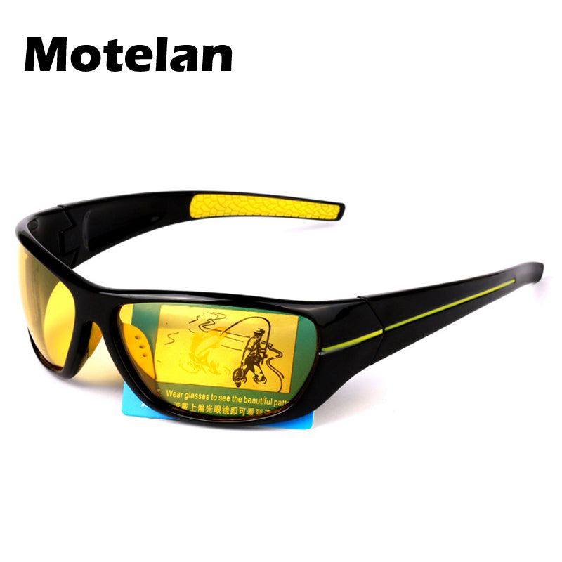 Night Vision Sunglasses Men Brand Designer Fashion Polarized Night Driving Enhanced Light At Rainy Cloudy Fog Day