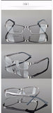 Reven Jate Half Rimless Eyeglasses Frame Optical Prescription Semi-Rim Glasses Frame For Women's Eyewear