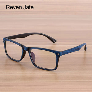 Reven Jate Unisex Reading Glasses Wooden Pattern Fashion Retro Optical 922