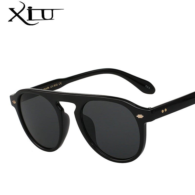 Xiu Keyhole Retro Vintage Sunglasses Men Women Brand Designer Elegant Sunglasses Fasion Rivet Eeywear Top Quality Uv400