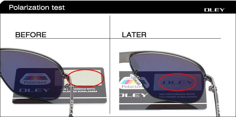 Oley Brand Men'S Pilot Polarized Sunglasses Eyes Protect With Accessories Y0161