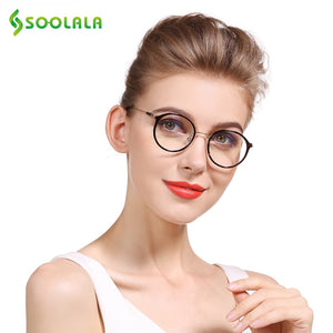 Soolala Brand Women's Cat Eye Inspired Round Circle Reading Glasses +0.5 0.75 1.25 1.75 2.25 2.75 To 4.0 Presbyopic