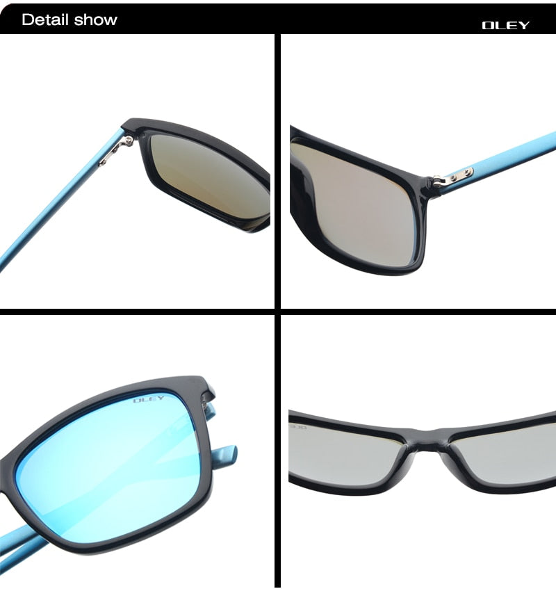 Oley Unisex Square Sunglasses Men Polarized Women Retro Driving Y55086