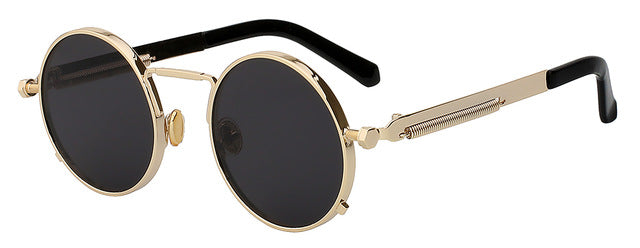 Xiu Oem Round Circle Steampunk Sunglasses Men Women Vintage Retro Mirror Lens Uv400