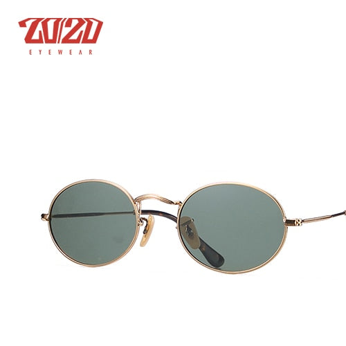 20/20 Brand Classic Polarized Sunglasses Men Women Vintage Eyewear Oval Driving Unisex C030