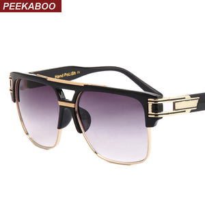 Peekaboo Unisex  Designer Brand Big Square Semi Rimless Gradient Luxury Sunglasses  UV400