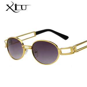 bb31ac72ff76 Xiu Brand Men'S Round Steampunk Sunglasses Clear Lens Glasses Gothic Flat  Top Vintage