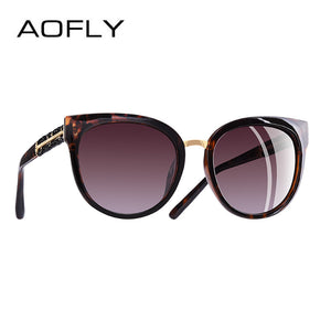 Aofly Brand Design Hand Made Luxury Cat Eye Women Polarized Sunglasses A138