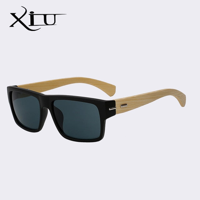 7d8c58f7f5 Xiu Brand Men S Square Shades Women Wood Sung Vintage Men Black Glasses  Natural Real Bamboo 5.0 (10 reviews)