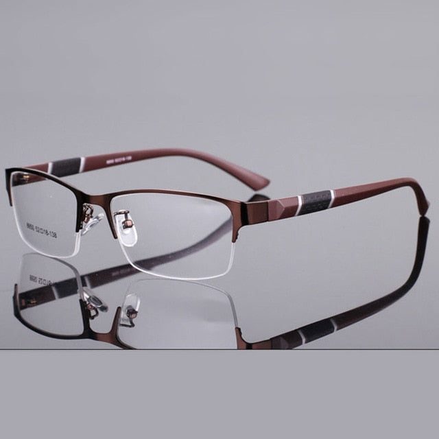 Reven Jate 8850 Half Rim Alloy Front Rim Flexible Plastic Tr-90 Temple Legs Optical Eyeglasses Frame Men Women