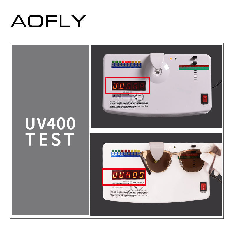 Aofly Brand Design Women Sunglasses Retro Vintage Square Metal Frame Unisex Men A140