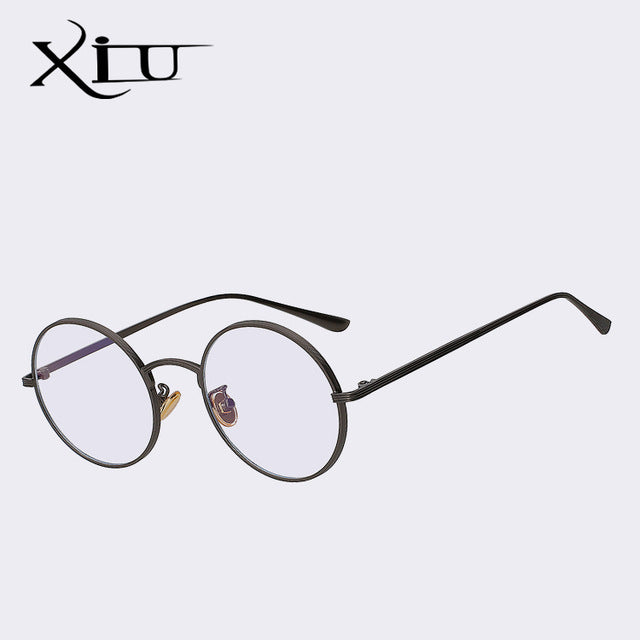 Xiu Xiu Brand Men'S Round Red Sunglasses Women Vintage