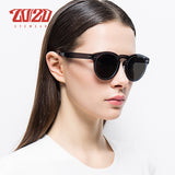 20/20 Brand Vintage Style Unisex Polarized Sunglasses Women Rimless Frame Round Flat Lens Men Pc1610