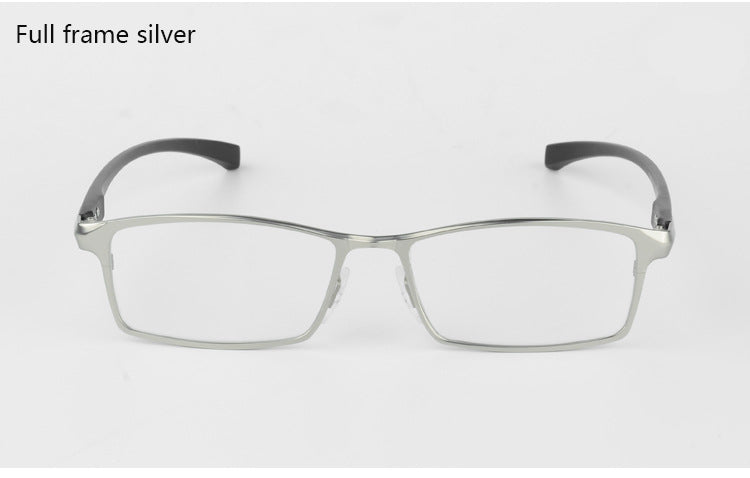 Bclear Men Titanium Alloy Eyeglasses Frame Eyewear Flexible Temples Legs Ip Electroplating Alloy Material Full Rim And Half Rim
