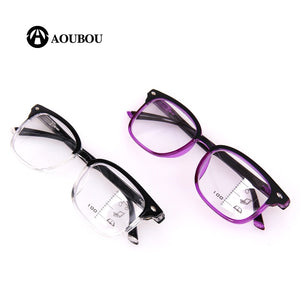 Aoubou Brand Unisex Reading Glasses Progressive Multifocal Lens Men Women Presbyopia Hyperopia Bifocal Eyeglasses A010