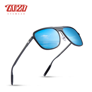 20/20 Brand Unisex Classic Aluminum Sunglasses Men Polarized Mirror Square Uv400 Pk017